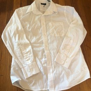 Nautical Men's White Long Sleeve White Button Down